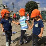 虹2組 園庭遊び (2歳児)